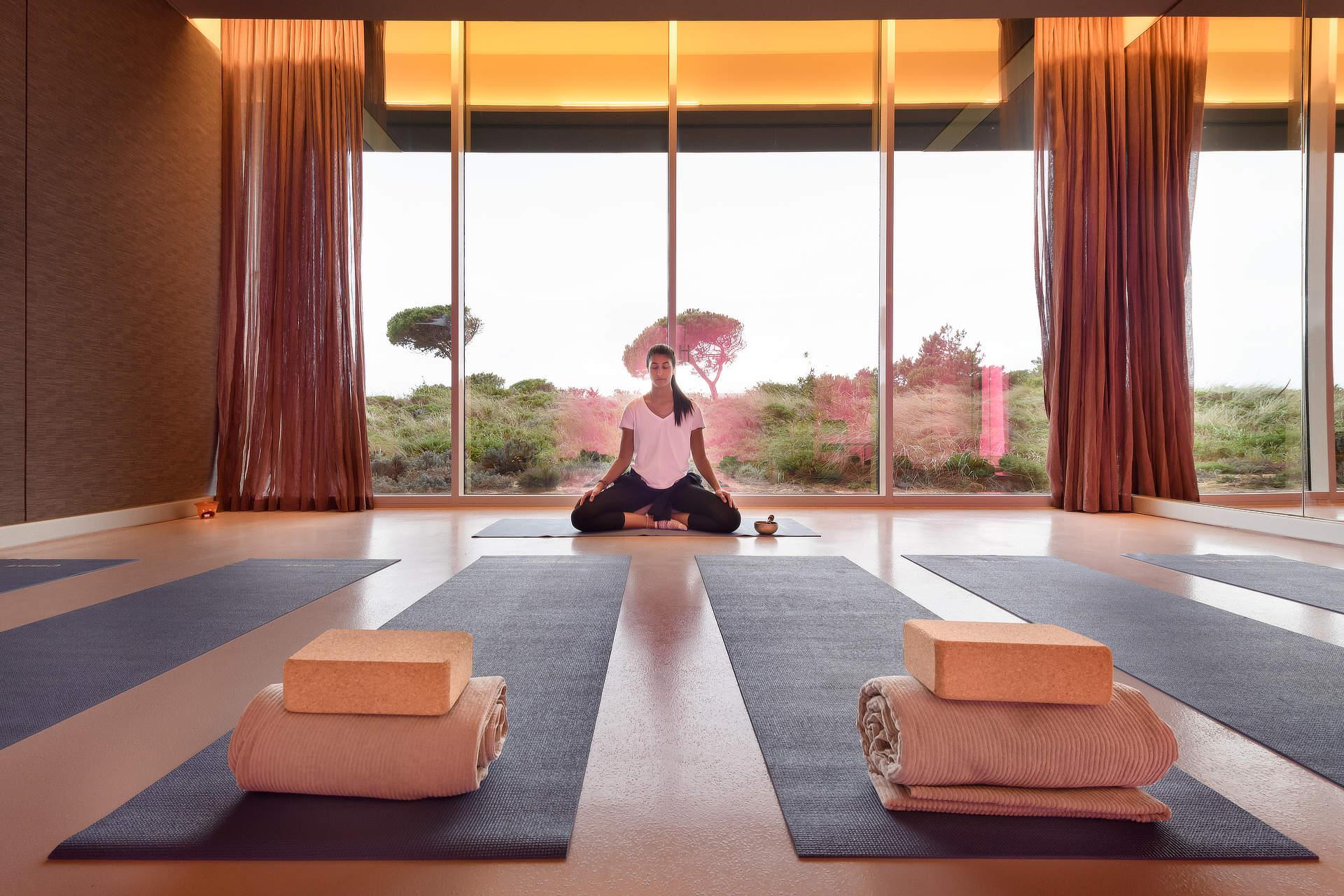 Aula de meditação no The Oitavos